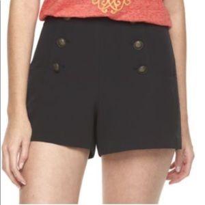 Disney Black High-Waisted Sailor Shorts 10
